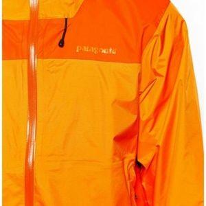 Patagonia orange rain jacket